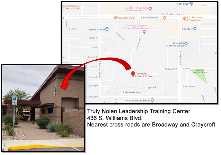Map to Truly Nolen LTC and photo of front of building