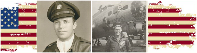 "Photos courtesy of Christine Nirschel. ""My great uncle, Joseph Francis Kelley (1917-1999), was a tail gunner in a B 17 Flying Fortress named ""Gypsy Princess"" during WWII. He flew 16 missions and made it home. That was quite an accomplishment for a US 8th Air Force tail gunner.""